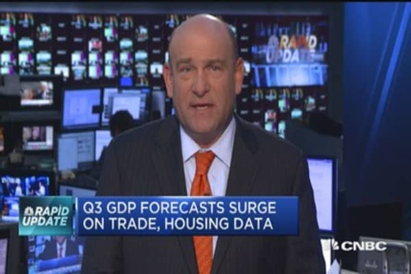 Q3 GDP forecasts surge on trade, housing data