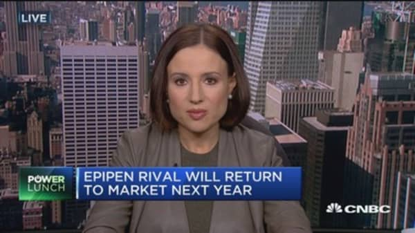 EpiPen rival will return to market next year
