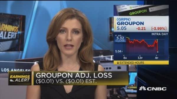 Groupon Q3 EPS adj. loss, revenues beat