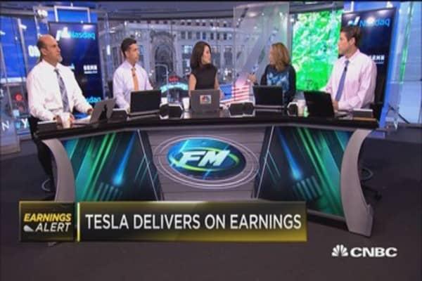 Tesla delivers on earnings