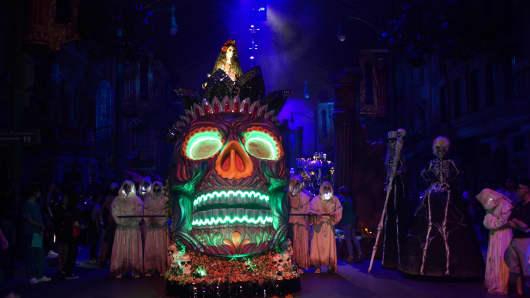 Scare actors at Universal Studios Singapore's Halloween Horror Nights.