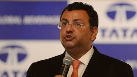 Cyrus Mistry speaks during the Tata Global Beverages AGM on August 24, 2016.