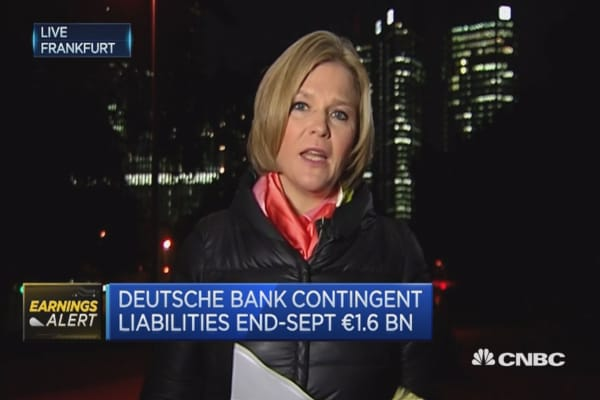 Deutsche Bank: Settlement discussions with DOJ ongoing