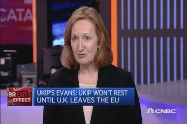 UKIP won't rest until UK leaves the EU: Evans