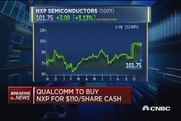Qualcomm to buy NXP for $110 per share