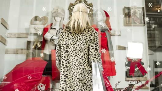 Luxury gift shopping during holidays