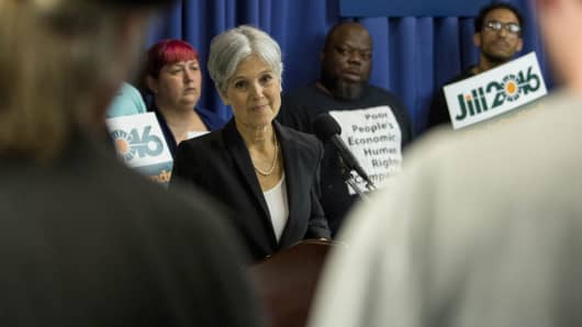 Jill Stein, the Green Party's presidential nomination
