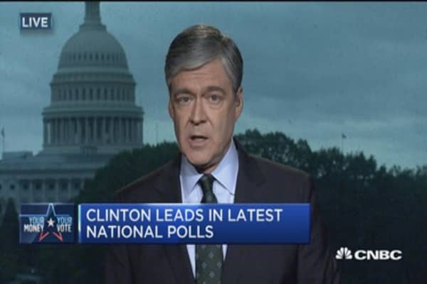Clinton leads in latest national polls