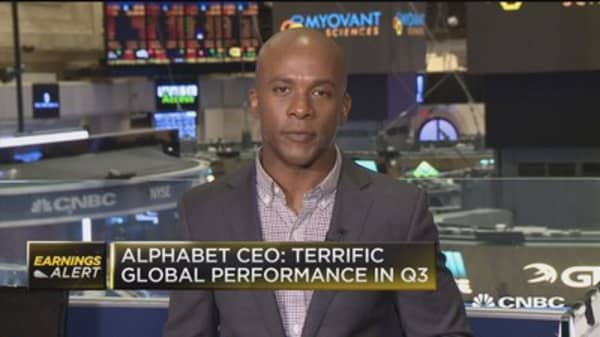 Alphabet CEO: Terrific global performance in Q3