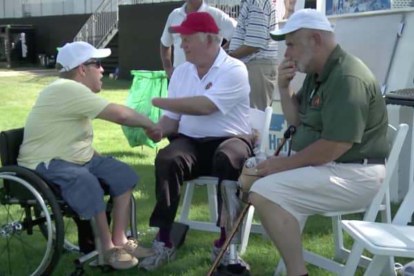 """Edmund """"EQ"""" Sylvester created the Freedom Golf Association to help amputees enjoy the game of golf."""