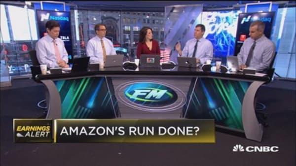 Amazon's run done?