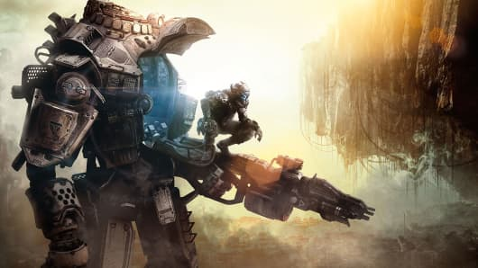 "An image from ""Titanfall"" by Electronic Arts."""