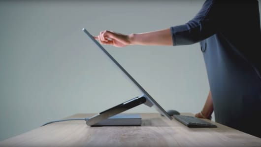 "A still image from the ""Introducing Microsoft Surface Studio"" video."