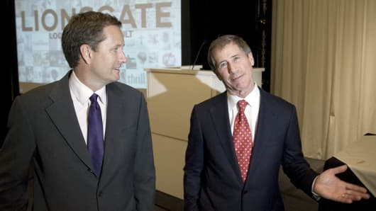 Michael Burns, vice chairman of Lions Gate Entertainment Corp., left, and Jon Feltheimer, co-chairman and chief executive officer of Lions Gate.