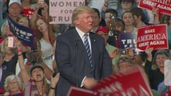 Trump contributes $30K to campaign, making little progress