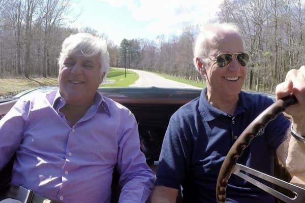 Jay Leno and Vice President Joe Biden go for a joy ride.
