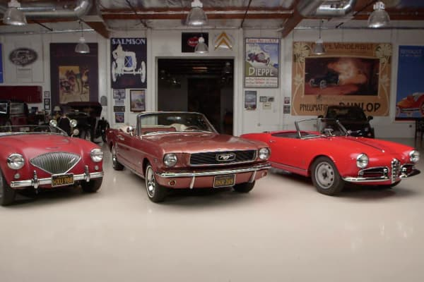 Which of these three classic cars appreciated best over five years.