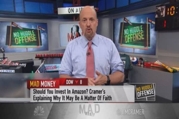 Cramer: Amazon's Bezos won't cut off his nose to spite his face, or please Wall Street