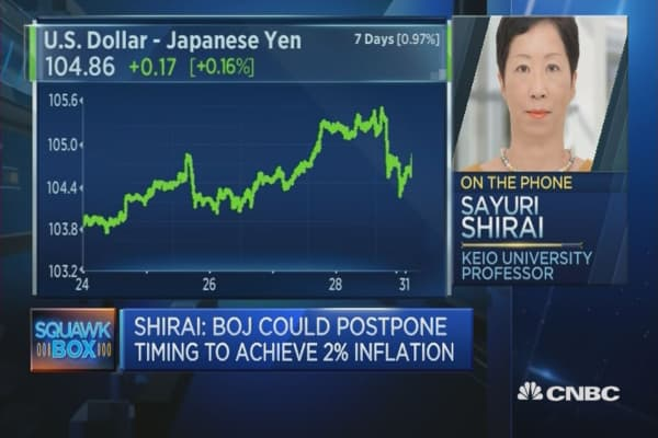 BOJ needs longer to achieve inflation target: Academic