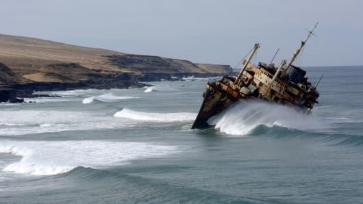 Sinking ship, down