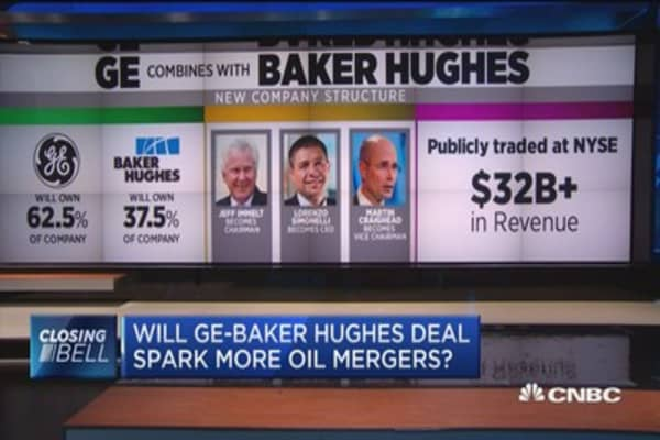 Will GE-Baker Hughes deal spark more oil mergers?