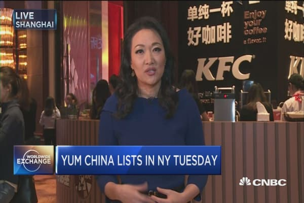 Yum Brands spins off China business