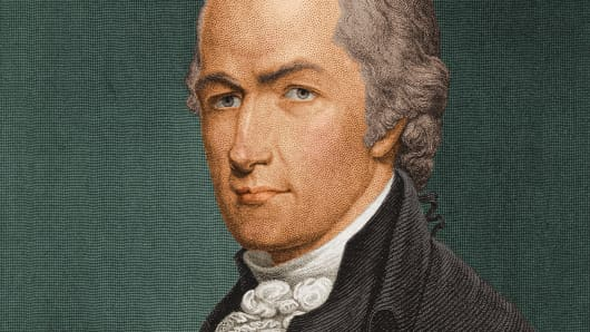 A painting of Alexander Hamilton.
