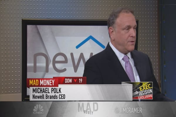 Jim Cramer speaks with Newell Brands CEO