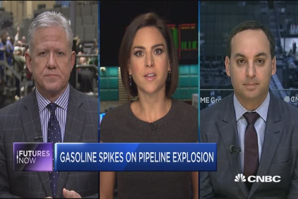 Futures Now: Gasolina spikes on pipeline explosion