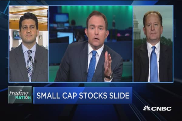 Trading Nation: Small cap stocks slide