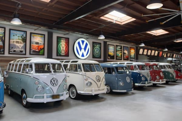Comedian Gabriel Iglesias collects and restores Volkswagen busses out of his garage in Signal Hill, California.