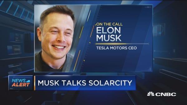 Musk talks SolarCity