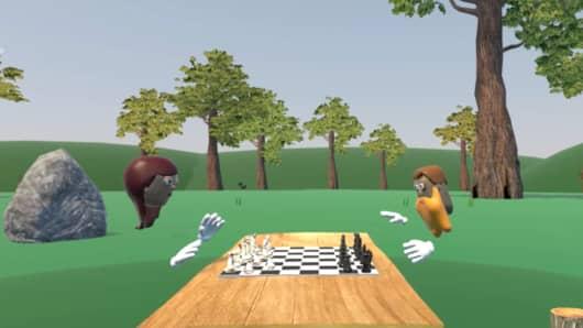 Metaworld VR chess game.