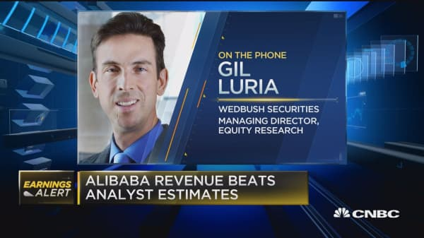 BABA beats on top and bottom line
