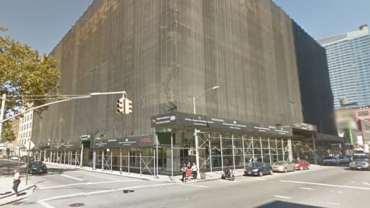 Google Maps displaying 787 11th Ave. in Hell's Kitchen, where Bill Ackman plans to move his office.