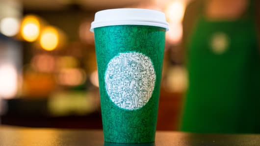 Starbucks green cup 2016
