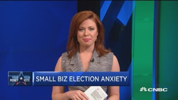 Small-business election anxiety