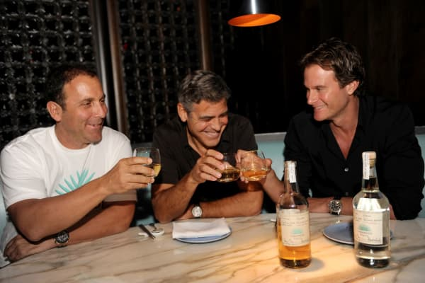 The Casamigos co-founders (from left to right): Michael Meldman, George Clooney, and Rande Gerber.