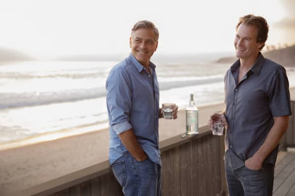George Clooney and Rande Gerber.