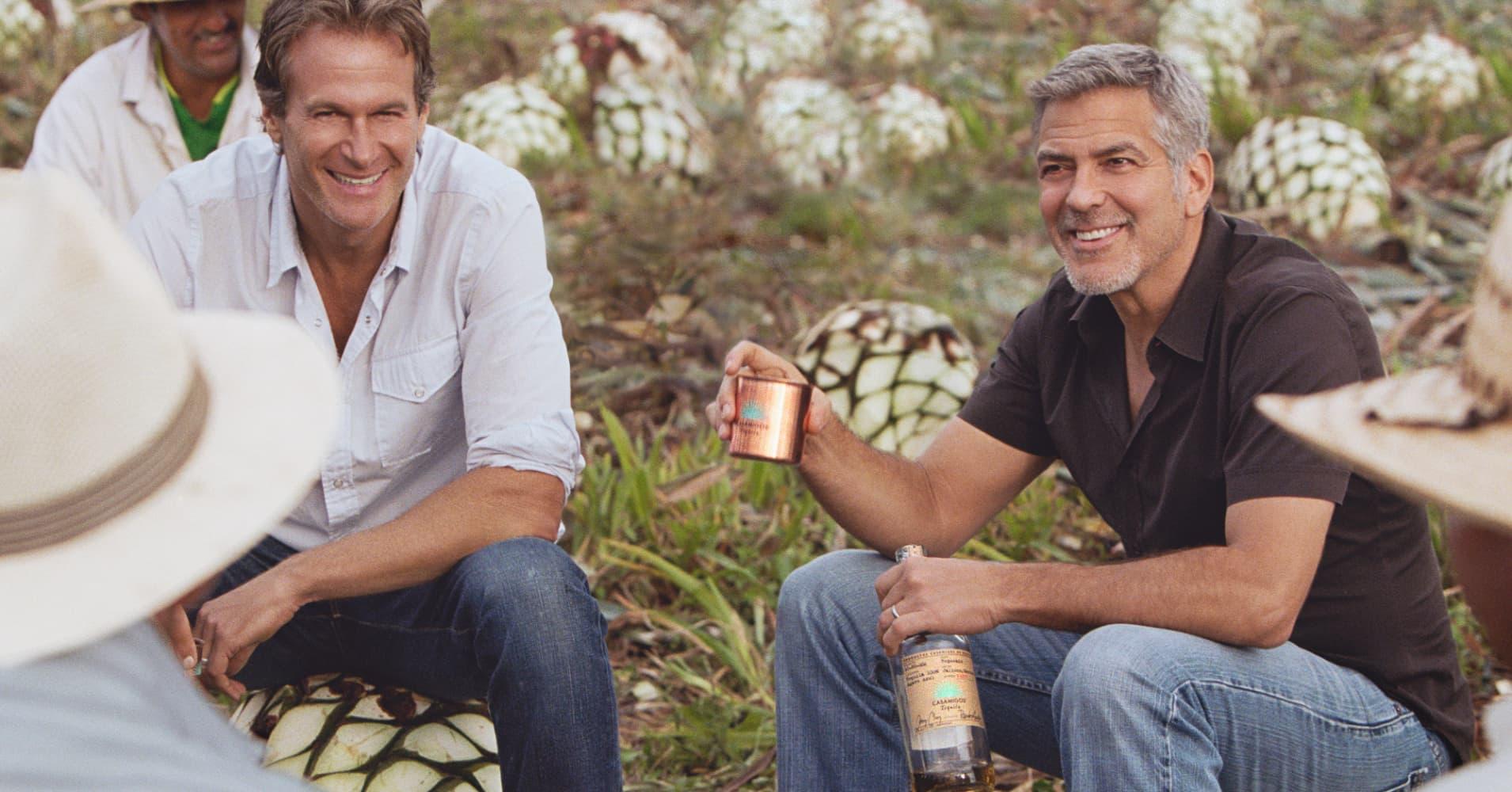 Rande Gerber and George Clooney.