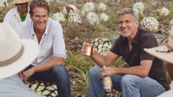 Rande Gerber and George Clooney.