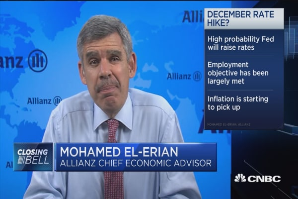 El-Erian: High probability Fed will raise rates in December