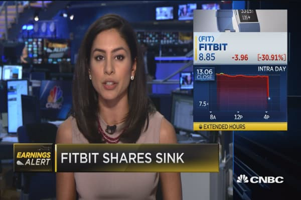 FitBit shares sink following in-line Q3 EPS