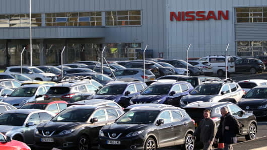 The Nissan car plant in Sunderland, north east England on October 25, 2016.