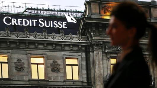 Credit Suisse window