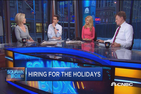 Hiring for the holidays