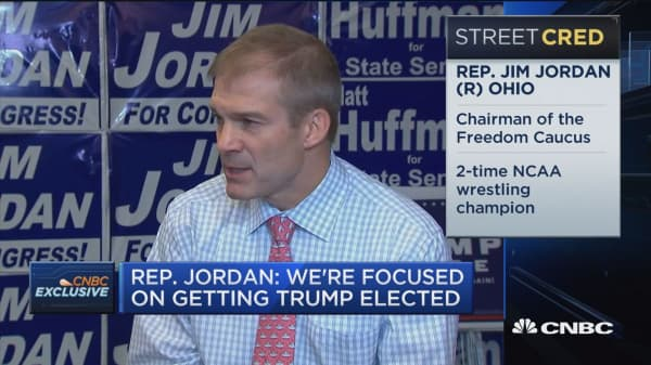 Rep. Jordan: We're not focused on Speaker Paul Ryan