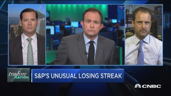 Trading Nation: S&P sees string of losses