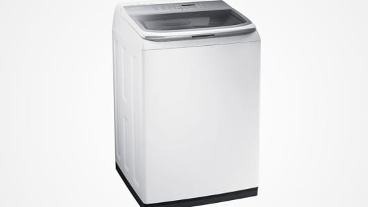 A Samsung Top Load Washer.