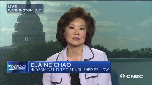 Fmr. Labor Sec. Chao: Not much drama or difference in October jobs report